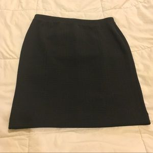 Elle textured Pencil Skirt Black M EUC